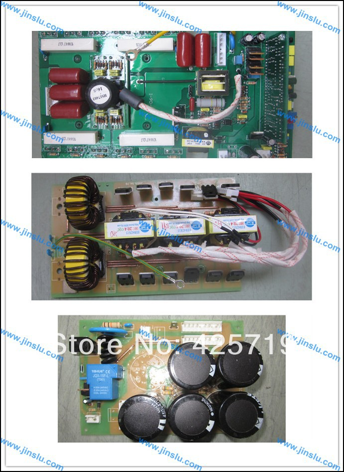 A set of MOSFET ARC200 inverter welder PCB, upper power PCB+ middle PCB+ bottom PCB