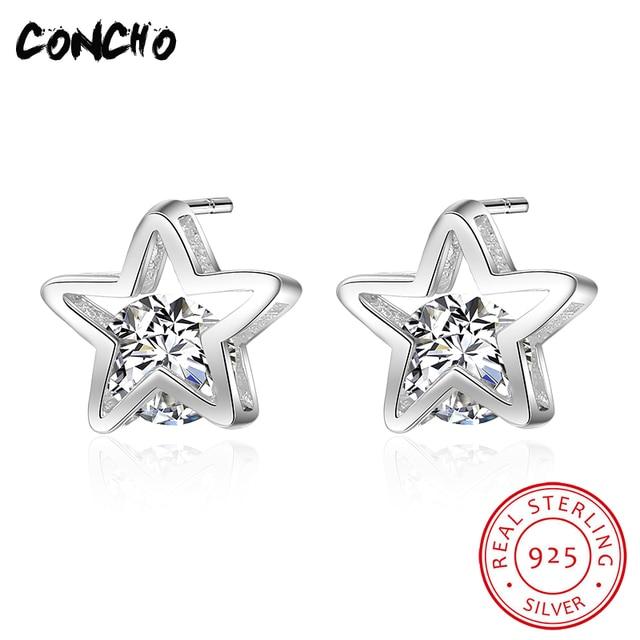 2018 Promotion Hot Sale Star Party Zircon Classic Orecchini Concho Jewelry 925 S
