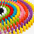 120 ШТ. Domino, Красочные Деревянные Строительные Блоки, веселые Настольные Игры Для Детей С Бесплатной Доставкой