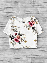 Sexy Body Woman Chiffon Flower Printed Short Sleeve Shirt Blouse Tops 2017 Blouses Kimono Blusas Summer Women Feminina Mujer
