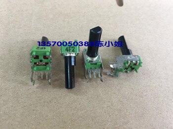 2 adet/grup Tayvan ALPHA Hua marka R09 tipi potansiyometre, A20K eksen uzun, 17 MM yarım şaft