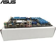 Оригинальный использоваться для настольных ПК для ASUS P7P55 LX P55 поддержка LGA1156 4 * DDR3 поддержка 16 г 6 * SATA II USB2.0 ATX