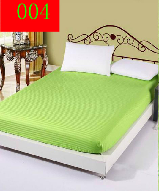 Apple Green Hotels Home Cotton Fitted Sheet 1Pc Single Double Bed Sheets  Fitted Cover Queen Bedspread