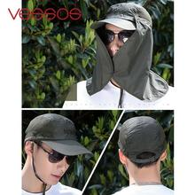 360-degree UV Protection Fishing Hats Sun Cap Climbing Neck Cover Hat Cap Outdoor Clothing Accessories