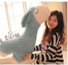 lovely plush sheep pillow toy blue sheep doll stuff sheep pillow gift doll about 90cm