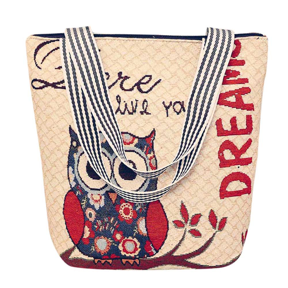 Womens Handbags Canvas Cartoon Handbag Shoulder Messenger Bag Ladies Satchel Tote Bags Female Tablets Bags Bolsa A8