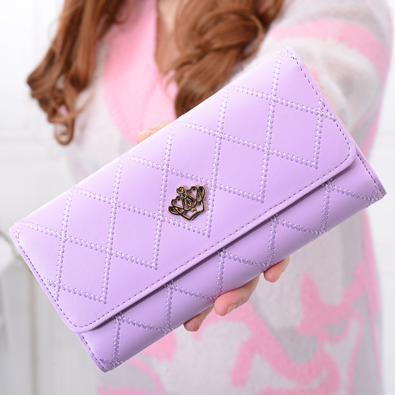 New Style Fashion 2017 Women Wallet Leather Long Coin Simple Lager Capacity Multi-Card Bit Female Wallet
