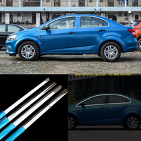 16pcs Stainless Steel Door Window Frame Sill Molding Trim For Chevrolet Aveo