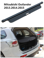 Car Rear Trunk Security Shield Cargo Cover For Mitsubishi Outlander 2013 2014 2015 High Qualit Black