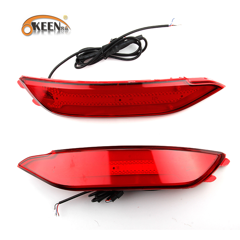 OKEEN 2Pcs car-styling For Hyundai Tucson 2016 led Rear Bumper light Car LED Tail light Rear Fog Lamp Light Auto LED Brake Light 40 led 34cm dc12v led light vehicle car light source auto fog stop tail rear brake warning light lamp high quality red