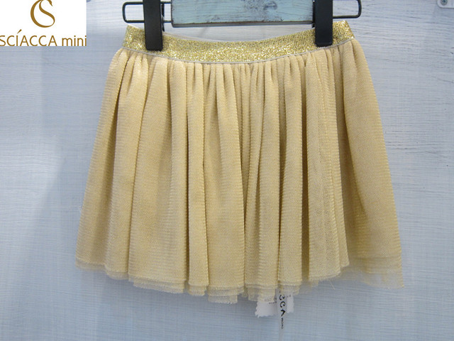 Sciaccamini 2016 New arrival apricot color summer 6 layers mesh tutu skirt girl 3 4 5 6 7 8 9 10 11 12 years