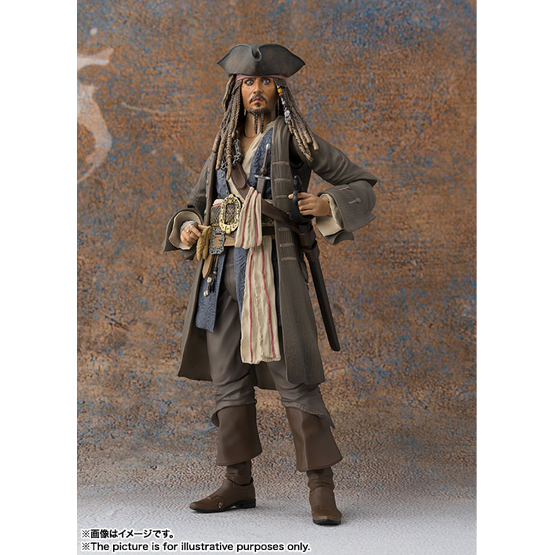 SHF Movie Pirates of Caribbean Captain Jack Sparrow PVC Action Figure New In Box