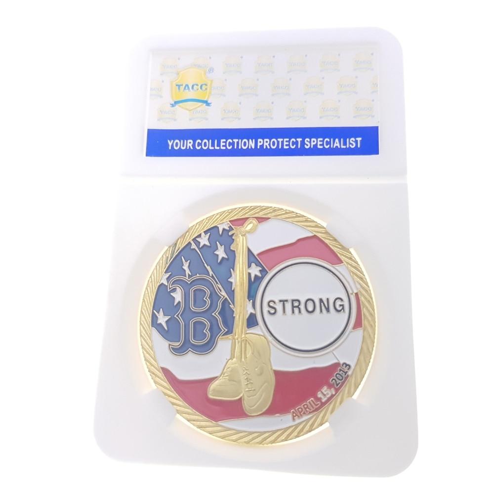Commemorative Coin Collection Medal Souvenir Badge Anniversary Birthday Present 911 Events In Boston USA Trade Center Tradegy