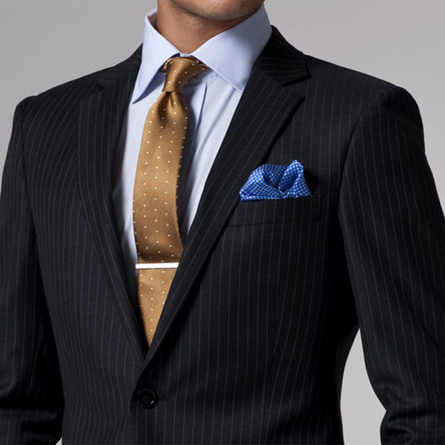 Black White Pinstripe Suit Custom Made Wedding Suits For Men Tailor Tuxedos