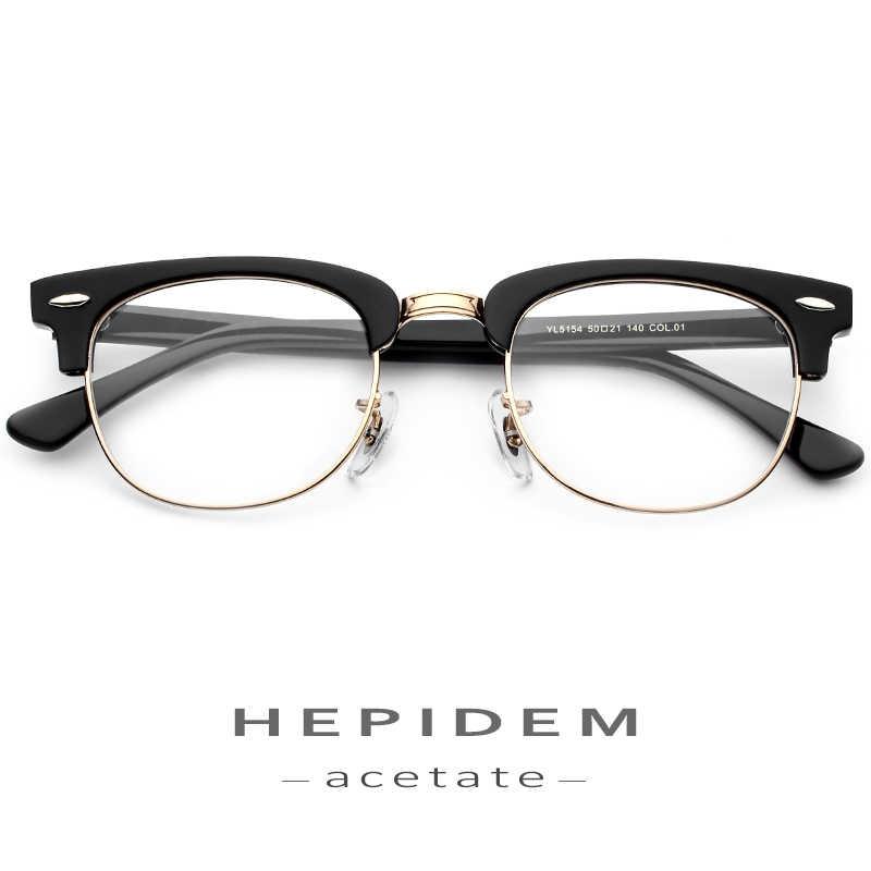 d50eceafac ... Montura de gafas de acetato de Metal para hombres gafas de prescripción  de ojos redondos para ...