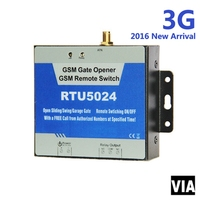 RTU5024 3G Free Shipping New Arrival GSM Gate Opener Relay Switch Remote Access Control Wireless Door