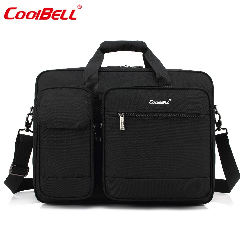 CoolBELL 17.3 Inch Laptop Briefcase Protective Messenger Bag Nylon Shoulder Bag Multi-functional Hand Bag For Macbook/Men/ Women coolbell fashion women tote bag 15 6 inch laptop handbag nylon briefcase classic laptop bag shoulder bag top handle bag