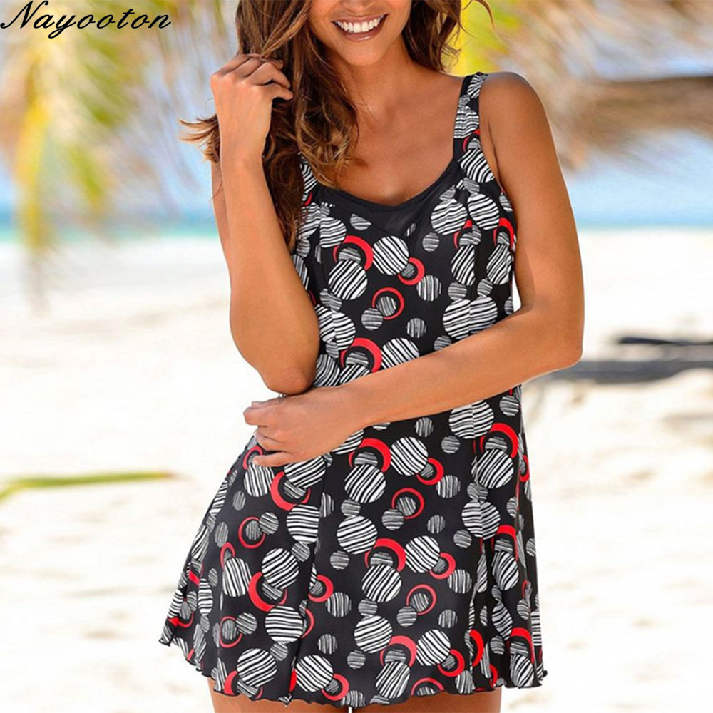 Swimwear women 2019 Plus size One piece swimsuit women sexy <font><b>skirt</b></font> swimming suit for women bathing suit print Monokini <font><b>Bodysuit</b></font> image