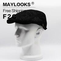 Golf Driving Sun Flat Cabbie Newsboy Caps Striped Peaked Hat Flat Cap Hats For Men Retro