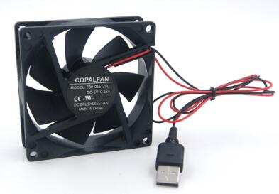 High Quality 8CM USB Fan 8025 80 * 80 * 25MM 5V USB Two-wire Cabinet Cooling Fan