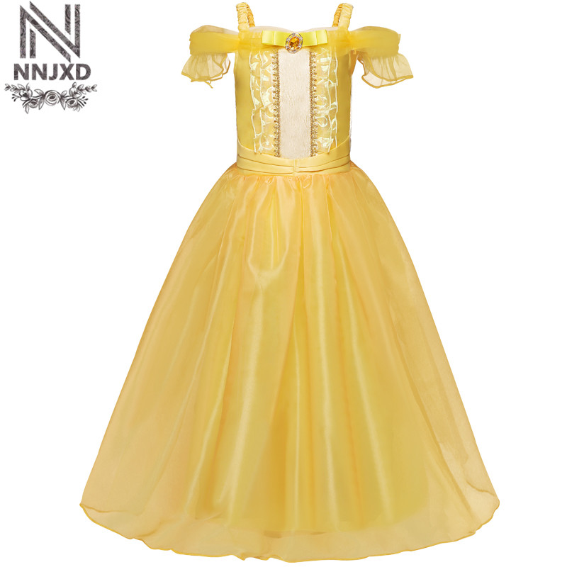 Teenage Girl Dress Girls Party Wear Beauty And The Beast Prom Gown Children Kid Halloween Costume Girl Clothes 6 8 10 Year