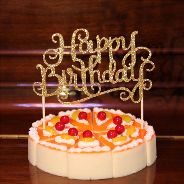 1pcs Gold Silver Romantic Bronzing Cake Inserted Card For Lovers