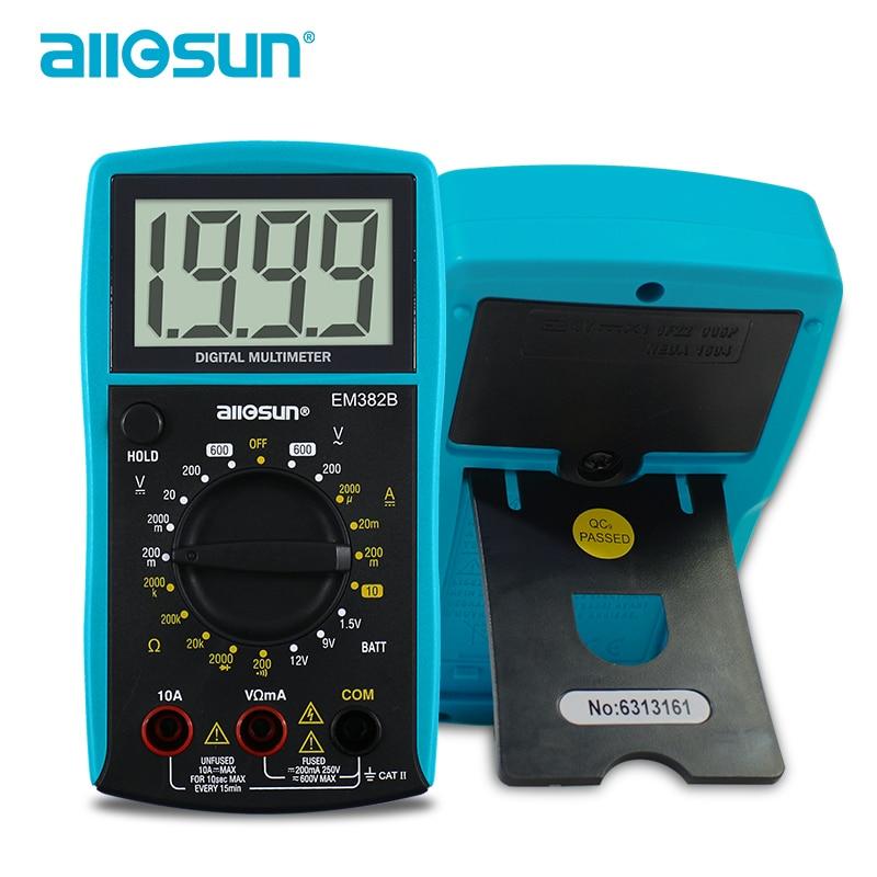 all-sun EM382B LCD digitális multiméter DC / AC voltmérő - Mérőműszerek - Fénykép 3