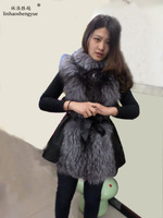 Linhaoshengyue 2014 Favors the real fox fur vest,winter, spring, a woman coat