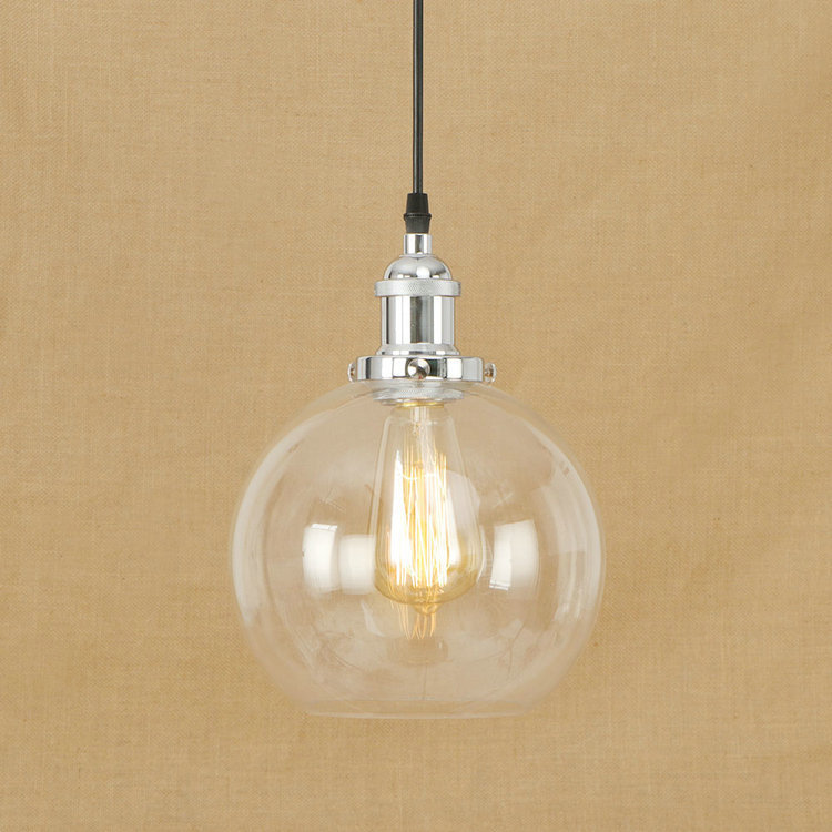 IWHD Retro Lights Style Loft Pendant Lamp Glass Ball Led Pendant Light Fixtures Kitchen Dining Vintage Industrial Hang Lampen edison inustrial loft vintage amber glass basin pendant lights lamp for cafe bar hall bedroom club dining room droplight decor