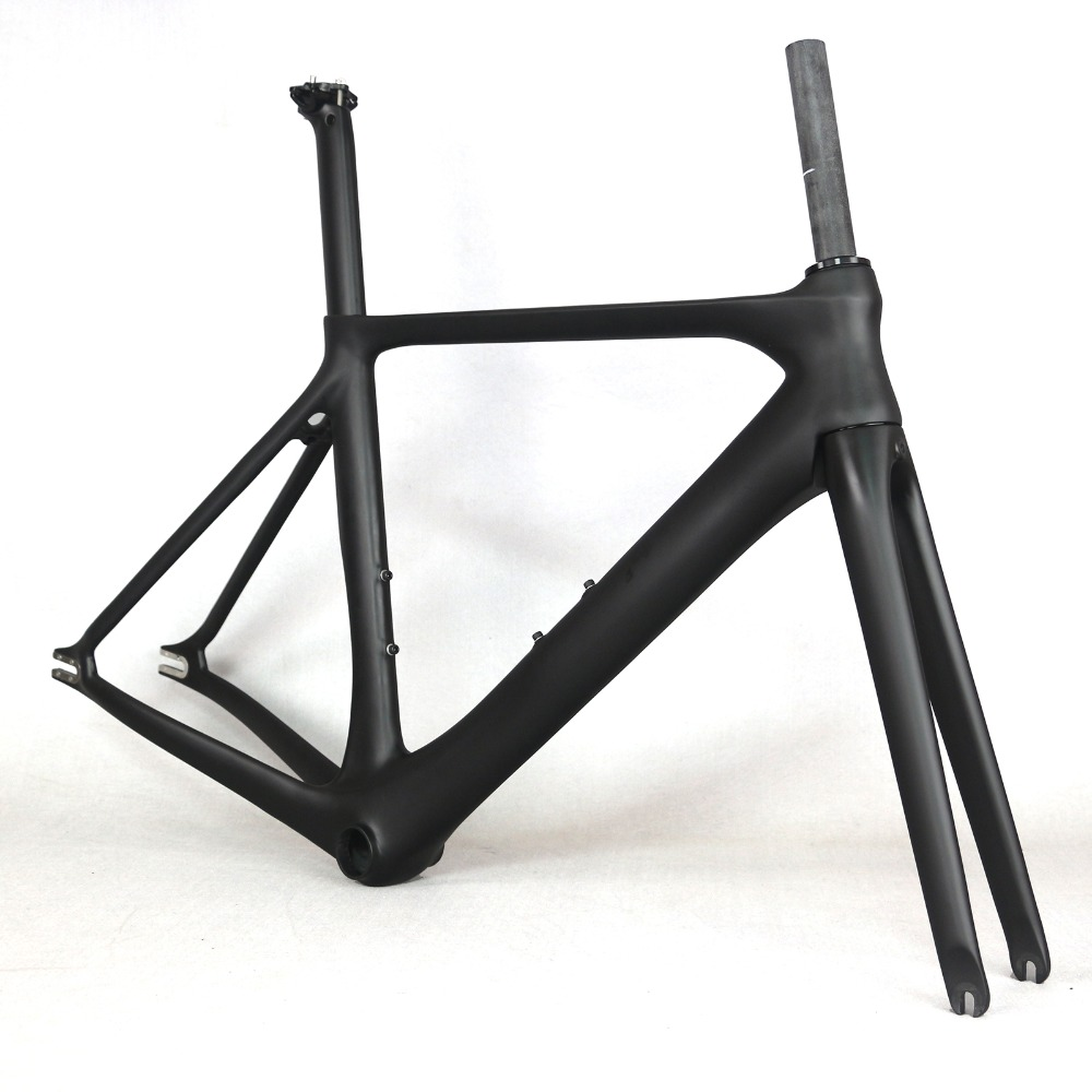 2019 New Full Carbon Track Frame Road Frames Fixed Gear Bike Frameset With Fork Seat Post 50/53/56cm Carbon Bicycle Frame