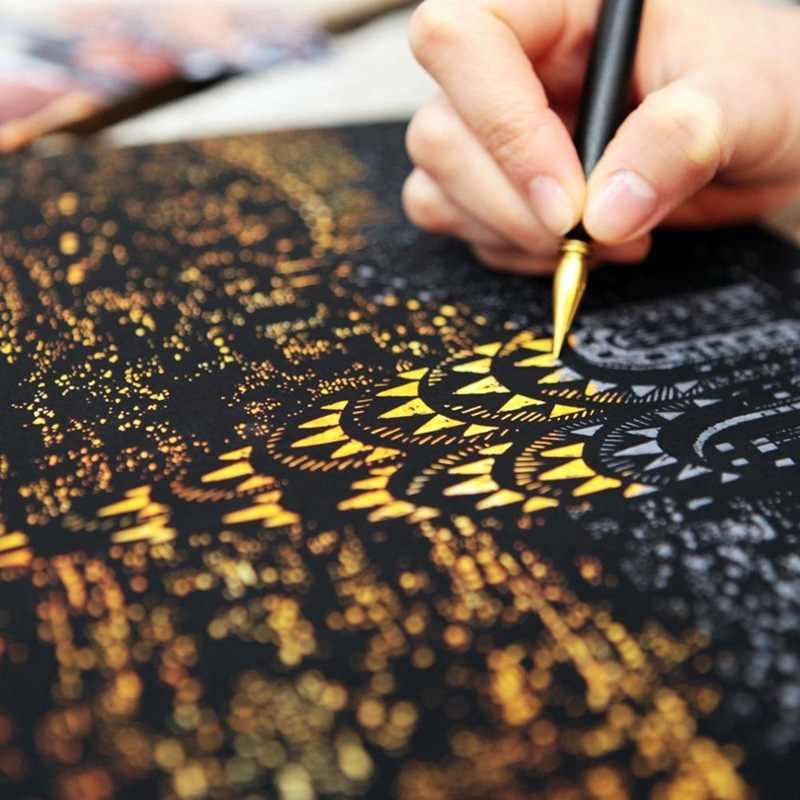Pittura decorativa Graffio Raschiatura Pittura Carta Da Disegno Visite Turistiche Del Mondo Le Immagini Decorazione Della Casa Regali Di Compleanno