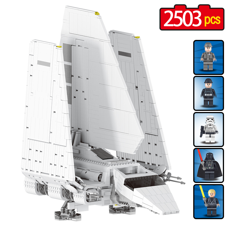 2503pcs Large Star Wars Sets Imperial Shuttle Spacecraft The Space Battle Building Block Kits legoINGLYS Technic Toys for Kids the imperial image paintings for the mughal court