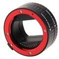 Fw1s rojo auto focus tubo de extensión macro adaptador 10mm 16mm para sony e nex e-mount
