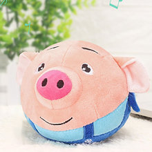 Jump Ball Seaweed Dance Pig Jumping Balls Electric Talking Toys Child Electric Plush Toy Learn Stool Beating sing Baby Kids Gift(China)