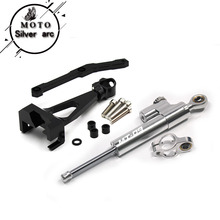 цена на Motorcycle CNC Damper Steering StabilizerLinear Reversed Safety Control+Bracket For Yamaha MT09 MT-09 FZ-09 2013-2017