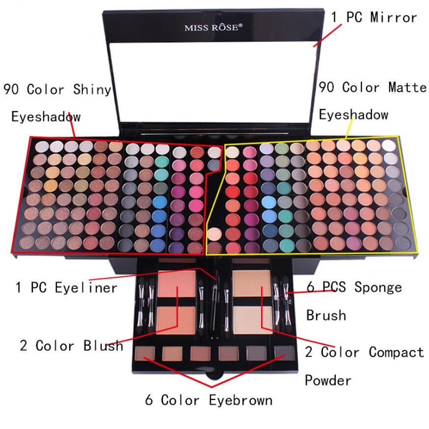 MISS ROSE 180 color makeup blush makeup box piano box eye shadow tray cosmetic caseMISS ROSE 180 color makeup blush makeup box piano box eye shadow tray cosmetic case