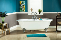 Free Shipping Bathtub Cast Iron Double Ended Bathtub
