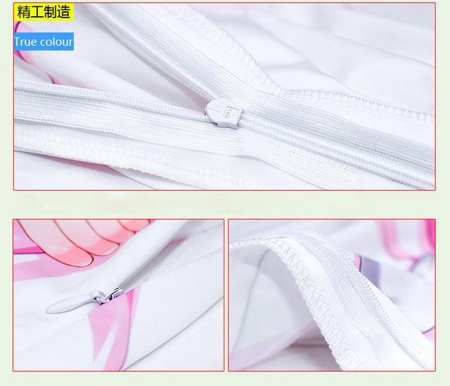 Anime Re:Zero kara Hajimeru Isekai Seikatsu Rem & Ram Pillowcase Hugging Body Pillow Cover Case Home Bedding