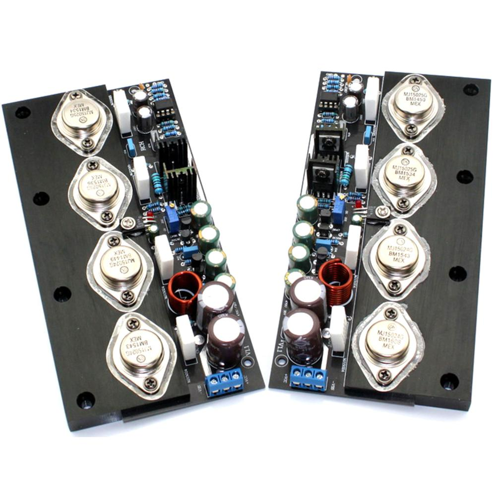 One Pair 20W Class A MJ15024 MJ15025 No Feedback Full DC Pure Power Amplifier Board YJ00317 in Amplifier from Consumer Electronics