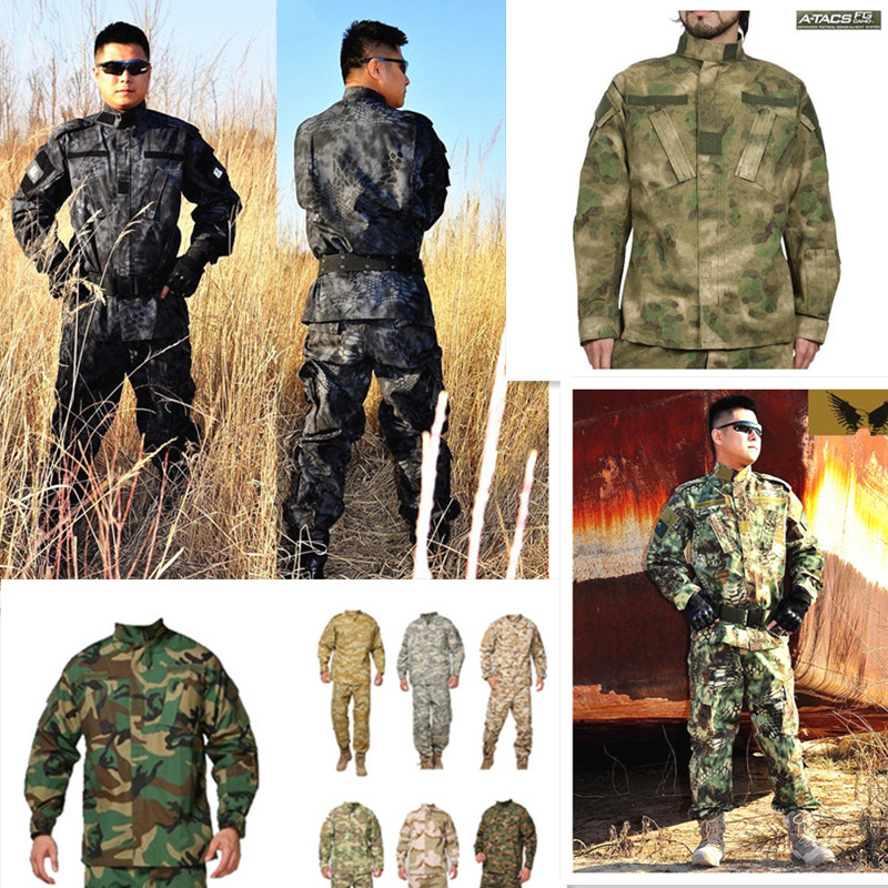 Army military tactical cargo pants uniform waterproof camouflage tactical military bdu combat uniform us army Suits clothing us army digital desert camo bdu uniform set war game tactical combat shirt pants ghillie suits