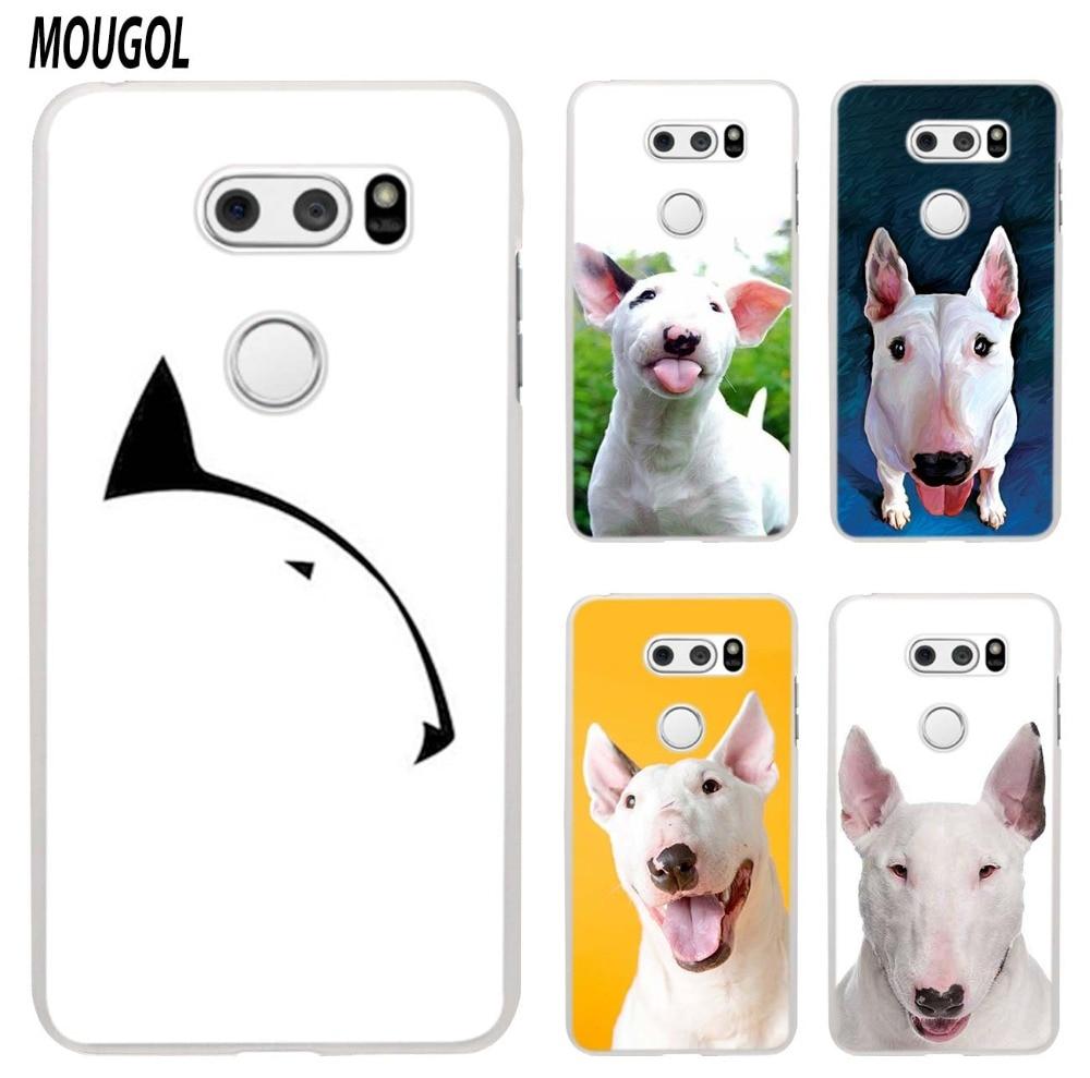 MOUGOL Bullterrier bull terrier design transparent hard case cover for LG Q6 G3 G4 G5 G6 K4 K5 K8 K10 V10 V20 V30