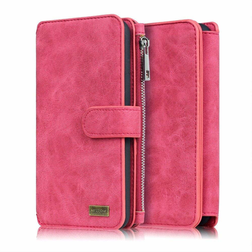 bilder für Neue Echtem Leder Brieftasche 2in1 Telefon Fall Für LG G3 G4 G5 abnehmbarer Zip Original Magnet Abdeckung Phone Cases Tasche Für LG G6 Abdeckung