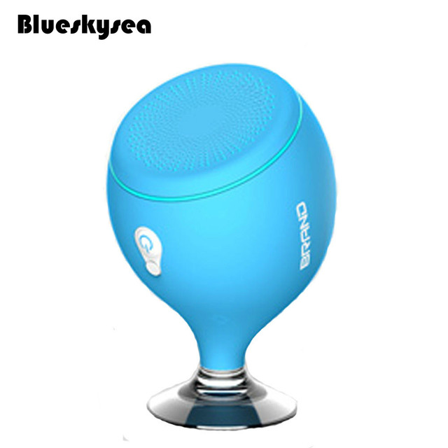 Blueskysea Mini Waterproof Wireless Bluetooth Speaker Bathroom Sucker Night  Lamp 700mAh ABS Portable For Smartphone Laptop
