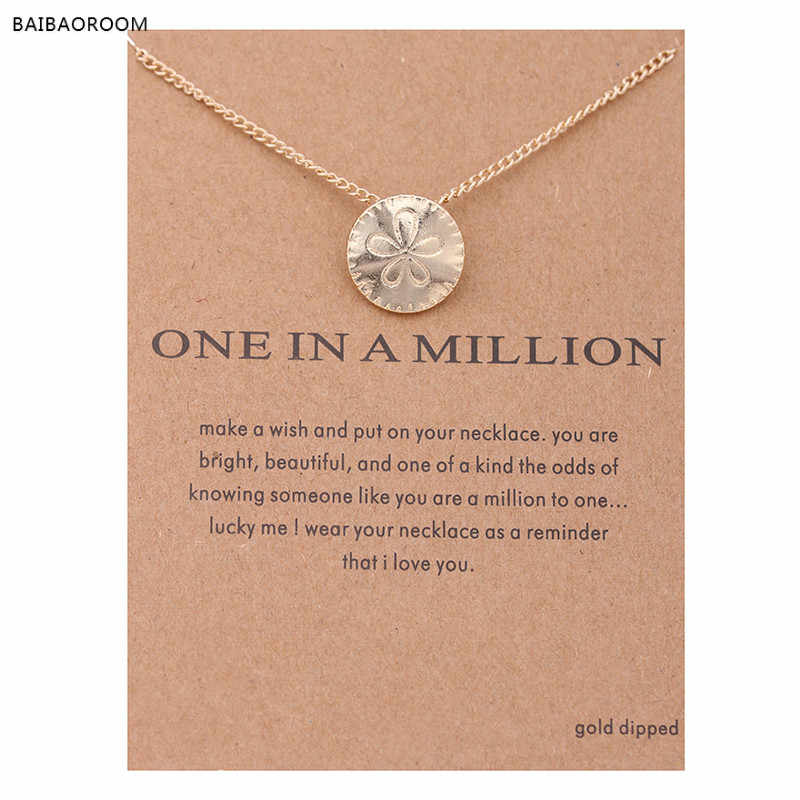 Hot Sale Fashion Jewelry One In A Million Sand Dollar Gold-color Necklace Pendant Women