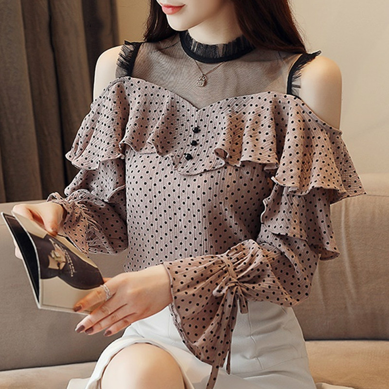 Women's Clothing Blouse Cotton Blend Women Sexy Floral Flower Printing Blouse Long Sleeve Loose Shirts V Neck Tops B15 A#487