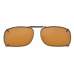 Image 4 - C75 eye kepper gris/marron/G15 lentille 3 pack lunettes de soleil polarisées à clipser 51x36 MM