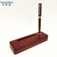 New Woode Roller Ball Pen Fountain Pen BallPoint Pen With Gold Clip Wooden Pencil Case Custom logo for Business Gifts P663