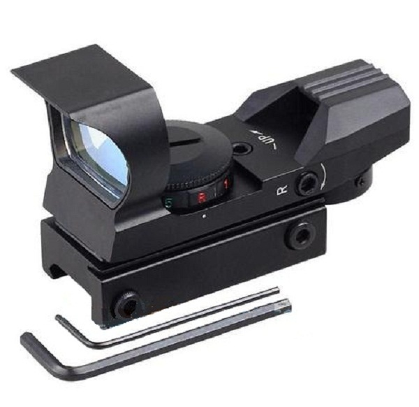 4-Reticle Sunshade Red Green Dot Reflex Sight peaked head 33mm Metal holographic Tactical scope for ar15