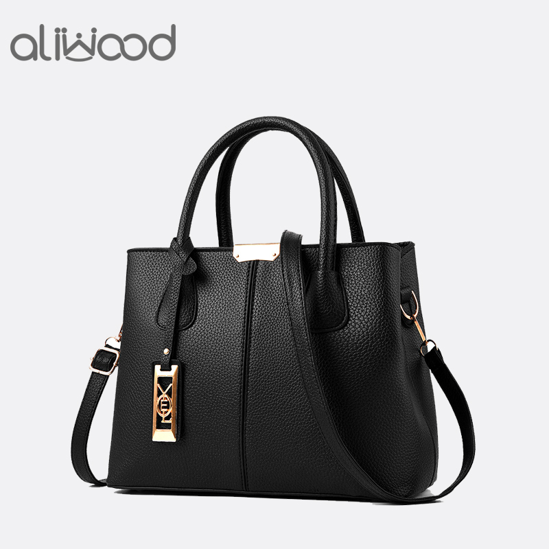 Aliwood New Simple Women bag PU Leather handbags Ladies Shoulder bag Females Tote Messenger bags Crossbody Bags Bolsas Feminina yingpei fashion women handbag pu leather women bag large capacity tote bags big ladies shoulder bag famous brand bolsas feminina