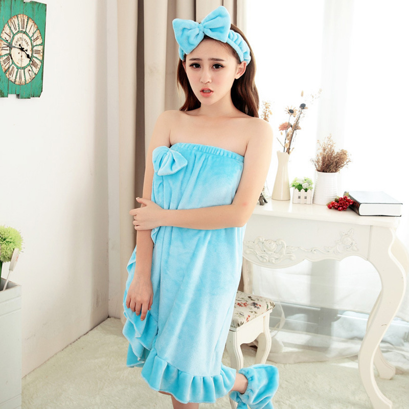 2018 Sexy Winter Women Cute Soft Strapless Flannel Bathrobe Butterfly Lace Skirts Night Bath Robe Robes Dress Gown Home Clothes
